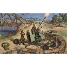 Figurines historiques 2ème guerre mondiale : Canon Bofors 40mm