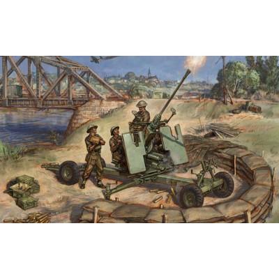 Figurines historiques 2ème guerre mondiale : Canon Bofors 40mm - Zvezda-6170