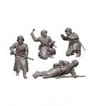 Figurines historiques 2ème guerre mondiale : Fantassins Allds Tenue Hivernale