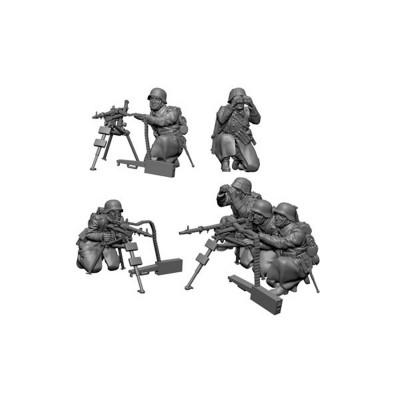 Figurines historiques 2ème guerre mondiale : Mitrailleurs Allemands Hiver - Zvezda-6210