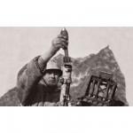 Figurines historiques 2ème guerre mondiale : Mortier Allemand 80mm Hiver