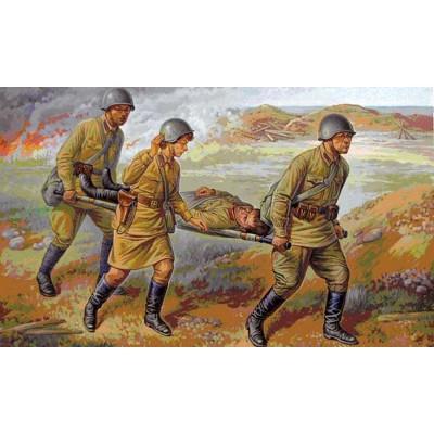 Figurines historiques 2ème guerre mondiale : Personnel Médical Sovietique - Zvezda-6152