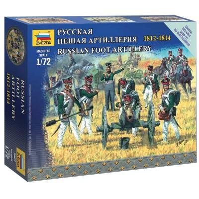 Figurines Militaires : Artillerie à pied Russe 1812-1814 et canon - Zvezda-6809