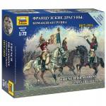 Figurines Militaires :  Etat Major Dragons Français à cheval 1812-1814