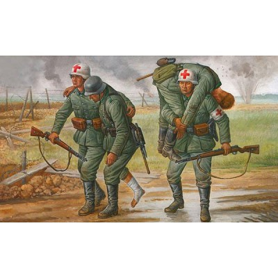Figurines 2ème Guerre Mondiale : Personnel Médical Allemand - Zvezda-6143