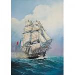 Maquette bateau: Frégate française