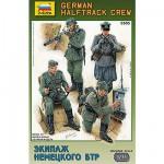 Figurines 2ème Guerre Mondiale : Equipage de halftrack Allemand