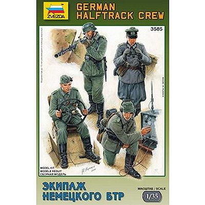 Figurines 2ème Guerre Mondiale : Equipage de halftrack Allemand - Zvezda-3585