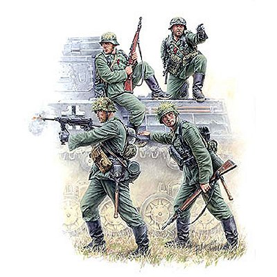 Figurines 2ème Guerre Mondiale : Grenadiers Allemands - Zvezda-3582