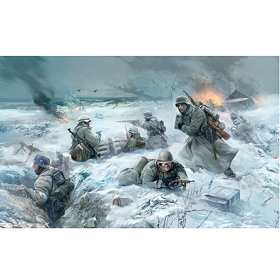 Figurines 2ème Guerre Mondiale : Infanterie allemande tenue hiver - Zvezda-3627
