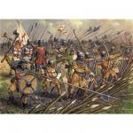 Figurines médiévales: Infanterie anglaise Guerre de 100 Ans