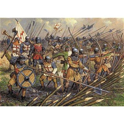 Figurines médiévales: Infanterie anglaise Guerre de 100 Ans - Zvezda-8060