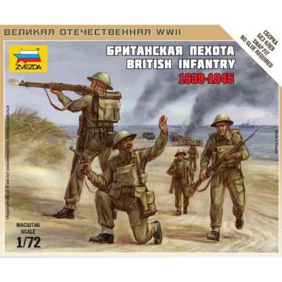 Figurines 2ème Guerre Mondiale : Infanterie britannique 1939-1942 - Zvezda-6166