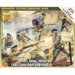 Figurines 2ème Guerre Mondiale : Infanterie navale soviétique 1941-1943
