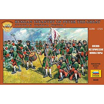 Figurines Infanterie Russe Pierre le Grand: XVIIIème siècle - Zvezda-8049