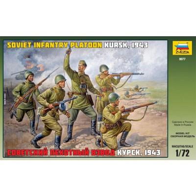 Figurines 2ème Guerre Mondiale : Infanterie soviétique: Koursk 1943 - Zvezda-8077