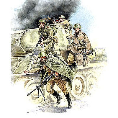 Figurines 2ème Guerre Mondiale : Infanterie Soviétique - Zvezda-3544