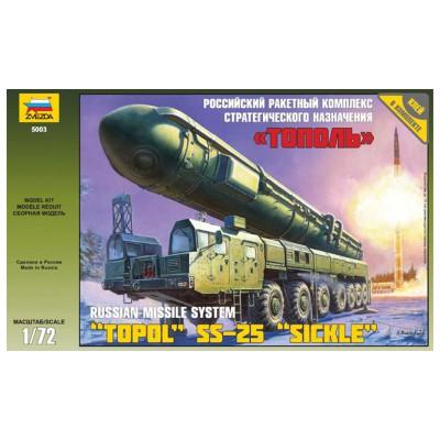 Maquette 1/72 : Lance missiles Topol SS-25 - Zvezda-5003