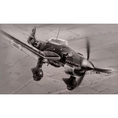 Maquette avion : Junkers Ju87B-2 Stuka - Zvezda-7306
