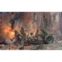 Maquette canon Pak 36 avec figurines