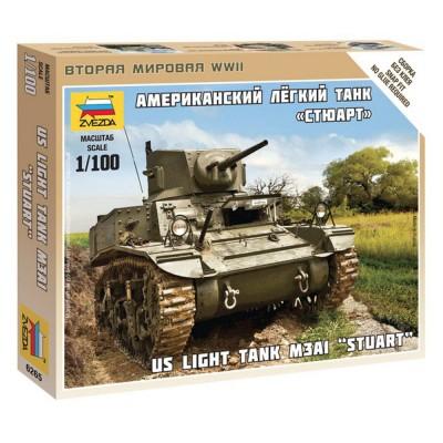 Maquette char : US Light Tank M3A1 Stuart - Zvezda-Z6265