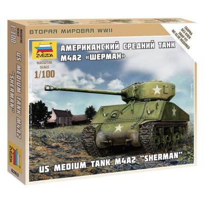 Maquette char : US Medium Tank M4A2 - Zvezda-Z6263