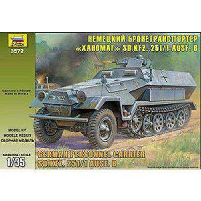 Maquette Half-track: Sd.Kfz.251/1 Ausf.B Hanomag - Zvezda-3572
