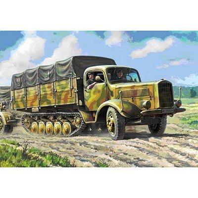 Maquette véhicule militaire: Halftrack allemand Maultier L4500R - Zvezda-3603