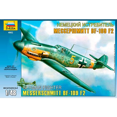 Maquette avion: Messerschmitt BF-109 F2 German Fighter - Zvezda-4802