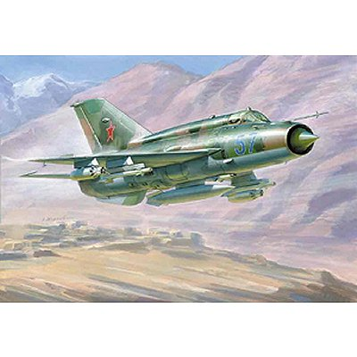 Maquette avion : MiG-21bis Soviet Fighter  - Zvezda-7259