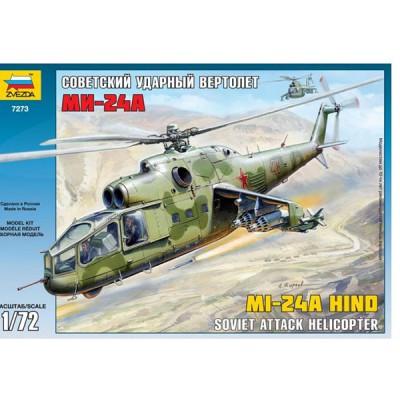 Maquette hélicoptère: Mil Mi-24A Hind - Zvezda-7273