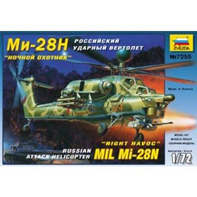 Maquette hélicoptère: Mil Mi-28N Russian Attack  - Zvezda-7255