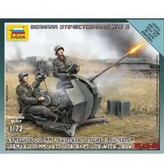 Maquette canon AA allemand avec figurines