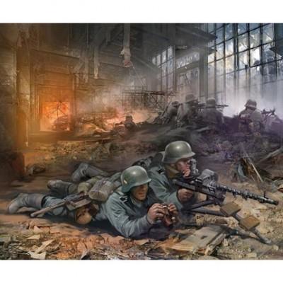 Figurines 2ème Guerre Mondiale : Mitrailleurs allemands - Zvezda-6106