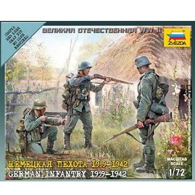 Figurines 2ème Guerre Mondiale : Infanterie Allemande 1941 - Zvezda-6105