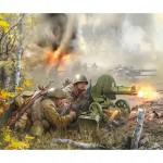 Figurines 2ème Guerre Mondiale : Mitrailleurs soviétique