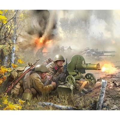Figurines 2ème Guerre Mondiale : Mitrailleurs soviétique  - Zvezda-6104