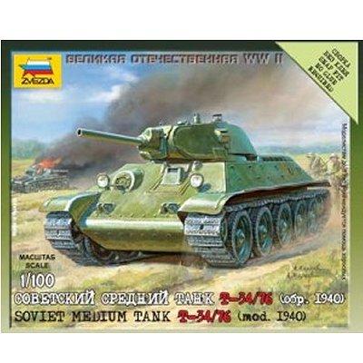 Maquette Char: Tank Soviétique T34/76 - Zvezda-6101