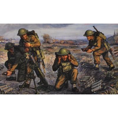 Figurines 2ème Guerre Mondiale : Mortier britannique - Zvezda-6168