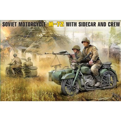 Maquette Moto soviétique M-72 - Zvezda-3639