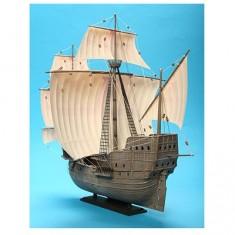Maquette bateau: Navire de conquistadors XVIème siècle