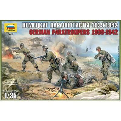Figurines 2ème Guerre Mondiale : Parachutistes allemands: Crète 1941 - Zvezda-3628