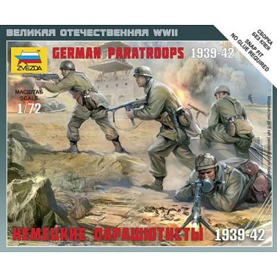 Figurines 2ème Guerre Mondiale : Parachutistes allemands - Zvezda-6136