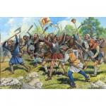Figurines médiévales: Paysans soldats XIII-XIVème siècle