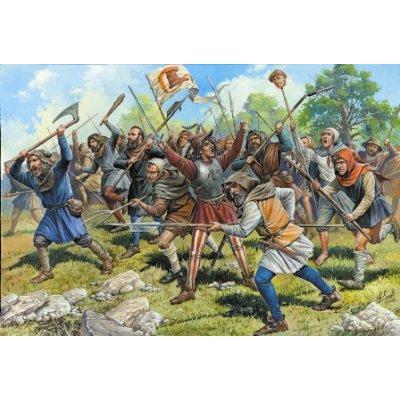 Figurines médiévales: Paysans soldats XIII-XIVème siècle - Zvezda-8059