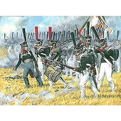 Figurines Guerres napoléoniennes: Infanterie lourde Russe 1812 - Zvezda-8020