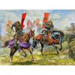 Figurines Japon médiéval : Samouraïs à cheval