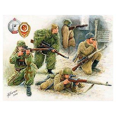 Figurines 2ème Guerre Mondiale : Tireurs d'élite soviétiques - Zvezda-3597