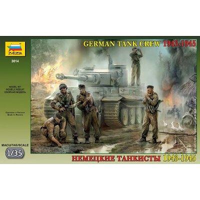 Figurines 2ème Guerre Mondiale : Tankistes allemands  - Zvezda-3614