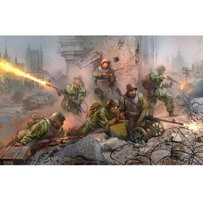 Figurines 2ème Guerre Mondiale : Troupe d'assaut soviétique: Konisberg 1944 - Zvezda-3509